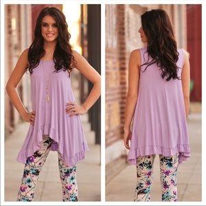 ☀New Lilac ruffle tunic ☀